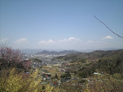 花見山から見える景色