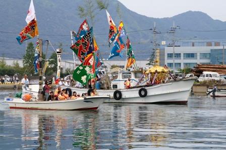 漁港の祭り
