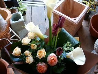 ウェディングマーチとベビーロマンチカの花束