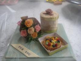 花束とタルト