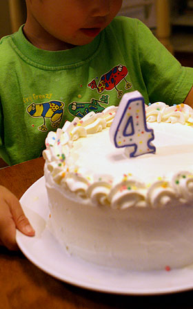 4歳おめでとう!
