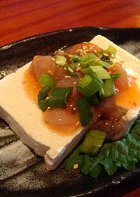 豆腐&たこの塩辛