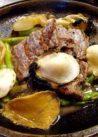 神戸牛とあわびの焼き物