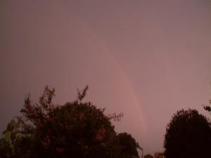 夕焼けと虹と稲妻