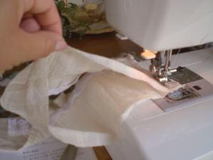輪に縫います