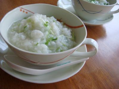 水菜の中華粥