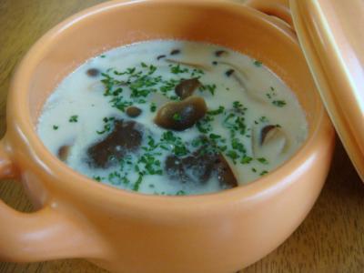きのこのミルクスープ
