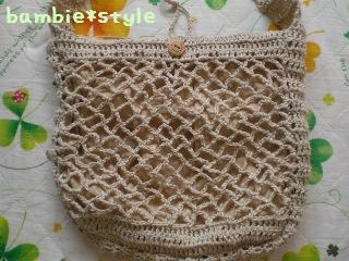 リネンの編み編みショルダーアップ
