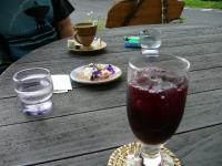 コーヒーとブルーベリージュース