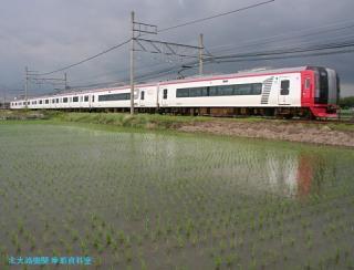 初夏 水面に映える名鉄電車 2