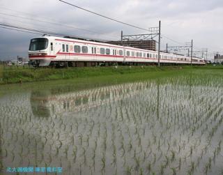 初夏 水面に映える名鉄電車 3