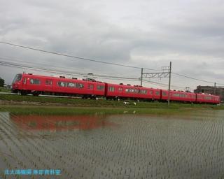 初夏 水面に映える名鉄電車 6