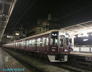 阪急電車梅雨の情景 8