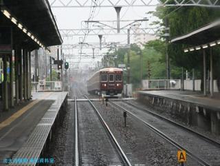 阪急 晩春雨天の車窓 03