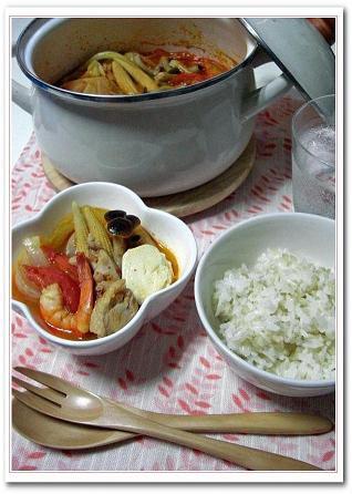 トマトキムチ鍋♪