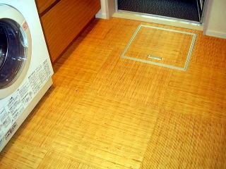 一階洗面室の床
