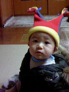 可愛い帽子の健真