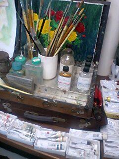 絵の趣味油絵の道具