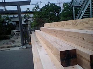 岩田邸材木検査、鳥居