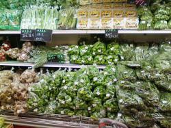 近郊野菜の売り場