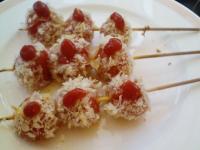 プチトマトの串カツ