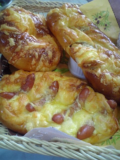 焼きこみ調理パン3種