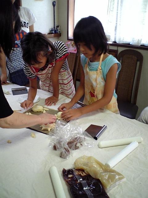 親子パン教室2008夏休み