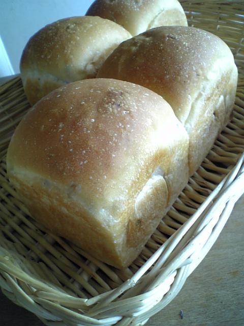 カレンツとひまわりの種の山食パン