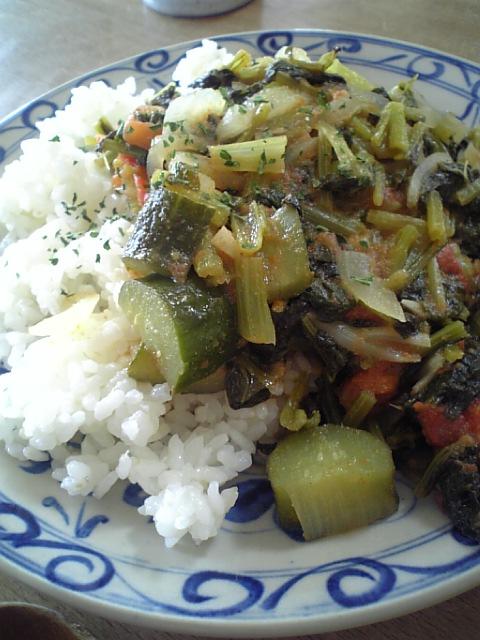 小松菜のカレー