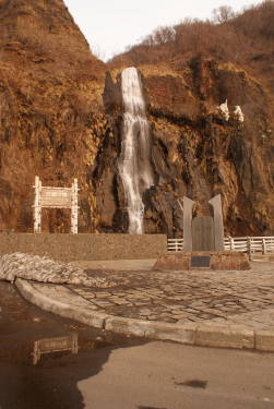 雄冬岬 白金の滝