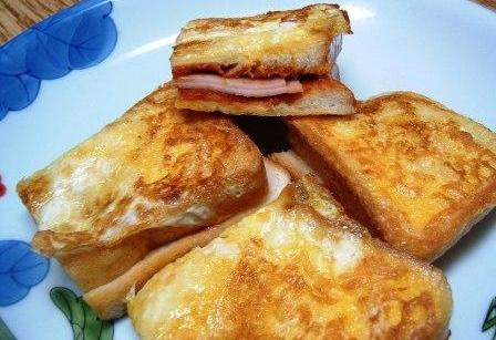 ハムの卵パン