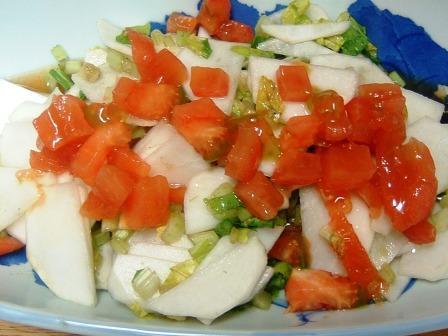 かぶとトマトのサラダ