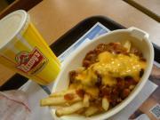 Wendy'sの「ベーコンBBQバーガー&チリチーズフライ」1