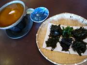 「庄屋の館」の海草料理1