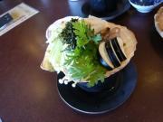 「庄屋の館」の海草料理2