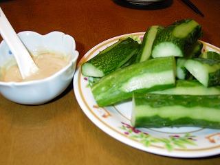 味噌マヨときゅうり