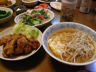 4月28日 チキンの味噌煮込み&辛ラーメン