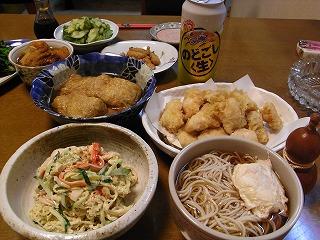 5月29日 かけそば&鶏の天ぷら