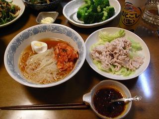 7月28日 冷麺&冷しゃぶサラダ(辛)