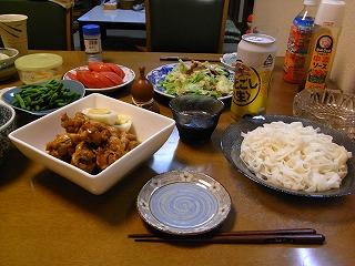 7月5日 鶏の酢っぱ煮&ざるきしめん