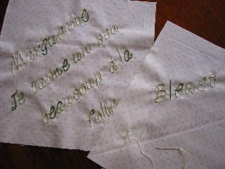 お花のマンスリー・刺繍