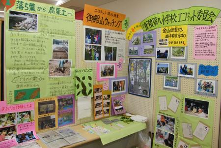 環境フェアきよせ清瀬市内の小学生による環境資料の展示