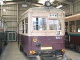 市電801形。1966年に全車廃車となりました。1932年、田中車両(現、近畿車輛)製。