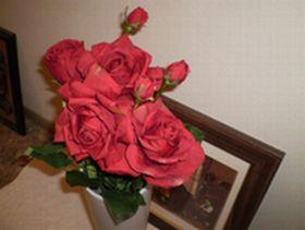 玄関の赤い薔薇Ⅱ