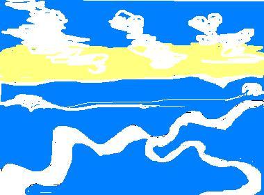 波の中の道