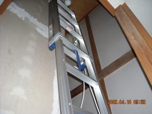 1階から見た2連梯子