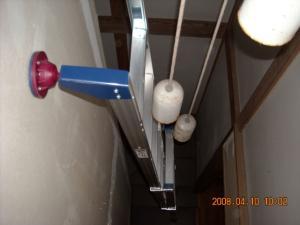 2階から見た2連梯子