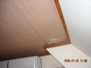 和室天井面壁紙張替前(クロス張替前)