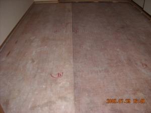 畳を処分した後の下地