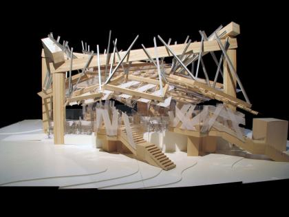 Serpentine Gallery Pavilion 2008 model view  2